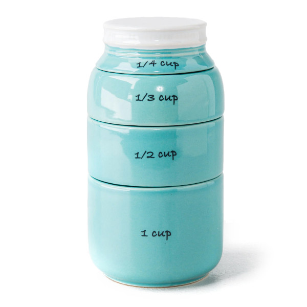 Mason Jar Ceramic Measuring Cups