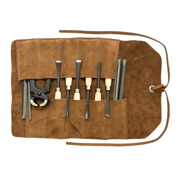 Small Tool Roll Handmade by Hide & Drink