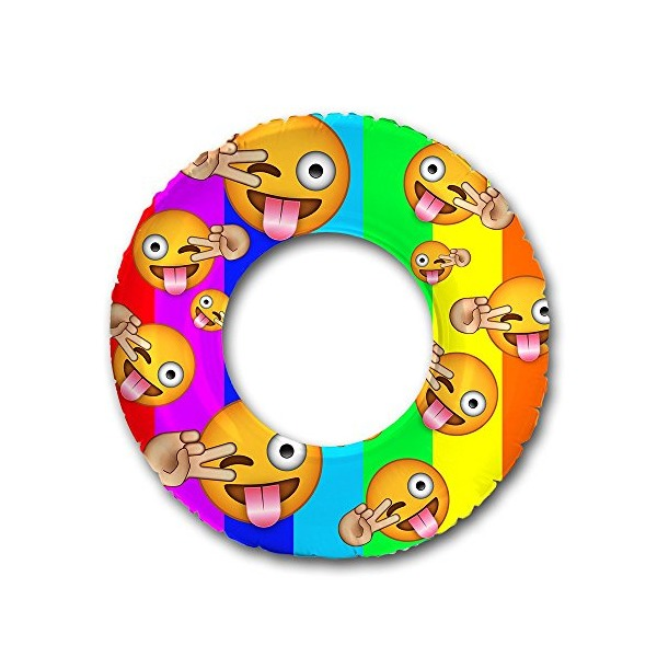 "Flonuts Emoji Inflatable 48"" Donut Tube Pool Float"