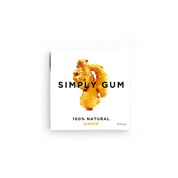 Simply Gum Ginger, 6 Packs