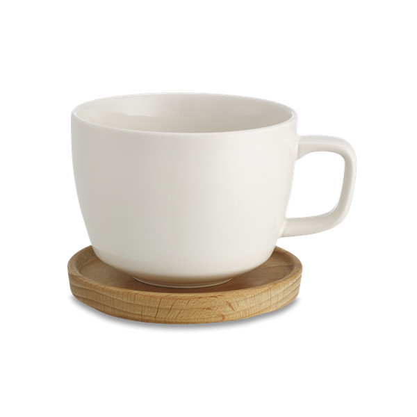 KINTO Neighbors White Cup and Saucer, 280ml