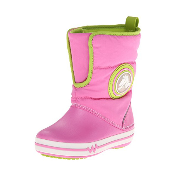 Crocs 15811 Croclights Gust Lighted Boot (Toddler/Little Kid),Party Pink/Volt Green,3 M US Little Kid