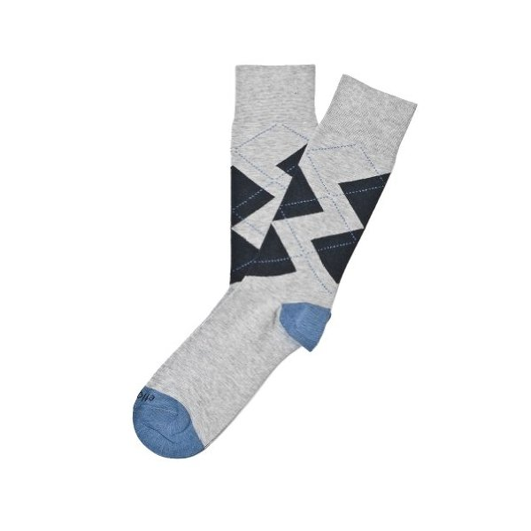 Etiquette Clothiers - Windsor Diamond Socks - Notte