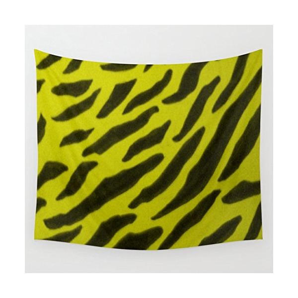 Society6 - Yellow Zebra Print Wall Tapestry by TheseRmyDesigns