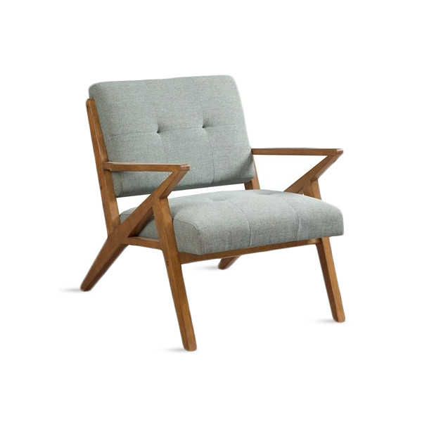 Ink+Ivy Rocket Lounge Chair, Light Blue