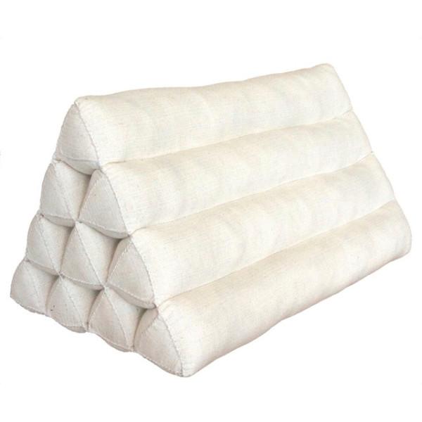 Triangle Cushion, 20x13x13 inches, Kapok, White