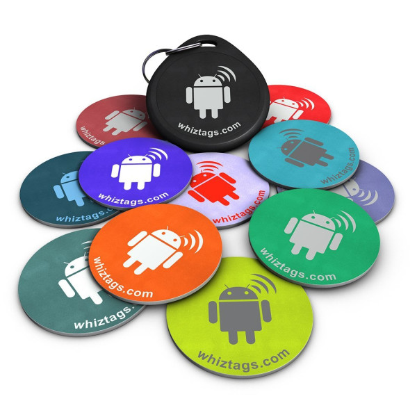 NFC tags - Topaz 512 Chip - 10 NFC Tags + Free NFC-Keychain + Free Bonus Tag - Android Writeable & Programmable - Samsung Galaxy S6 S5 S4 Note 4 - HTC One First One X Droid DNA - Sony Xperia - Nexus - Smart Tags - Adhesive Sticker Back - Best Money-Back G