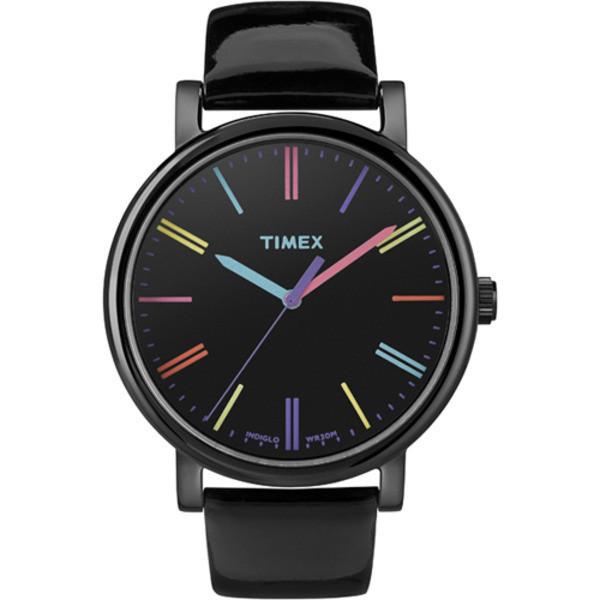 Timex Heritage Easy Reader Black Leather Strap Unisex Watch