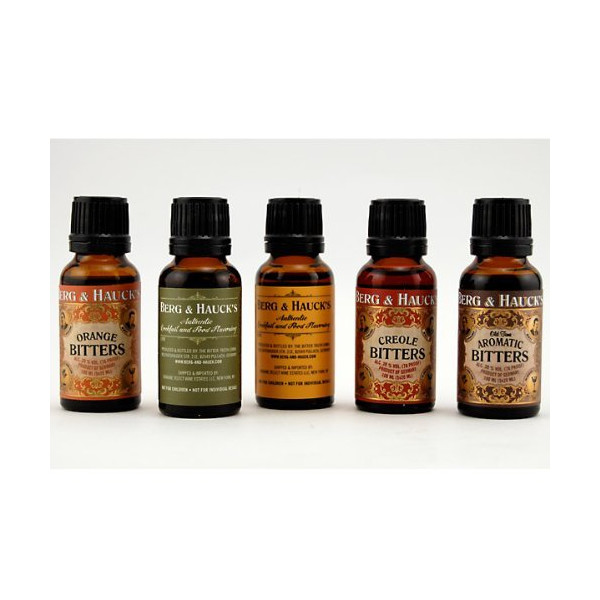 Berg & Hauck's Cocktail Bitters Sampler Set - Pack of 5