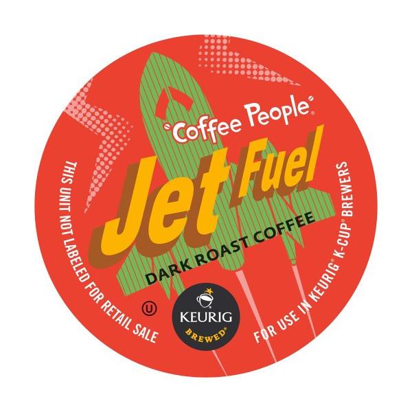 Keurig, Coffee People, Jet Fuel, 50 Count K-Cup Packs