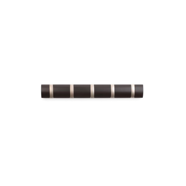 Umbra Flip 5-Hook Wall Hook, Espresso