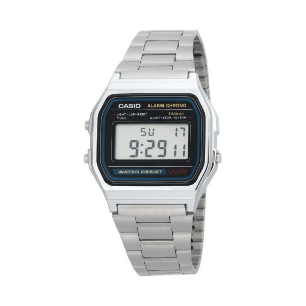 Casio Men's A158W-1 Classic Digital Bracelet Watch