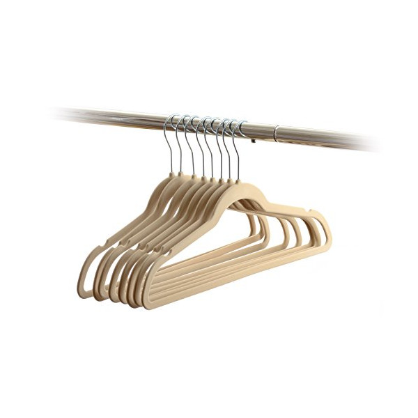 Home-it 50 Pack Clothes Hangers Ivory Velvet Hangers Clothes Hanger Ultra Thin No Slip