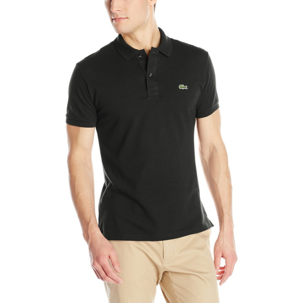 Lacoste Men's Short Sleeve Pique Slim Fit Polo Shirt, Black, XXL/Eur 8