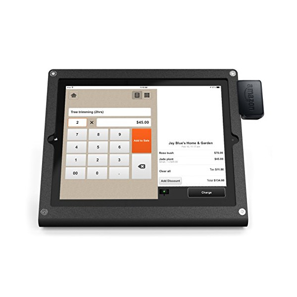 Amazon Local Register Secure Card Reader and WindFall Stand for iPad Air Bundle, Black