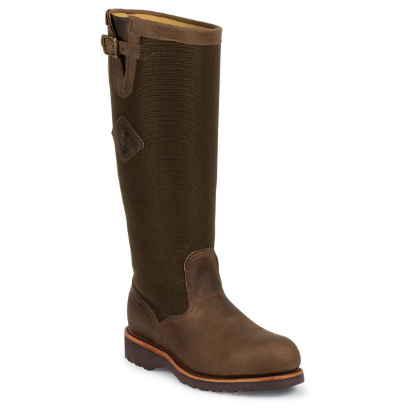Chippewa Men's 17 Inch Bay Apache Snake Boot, Brown