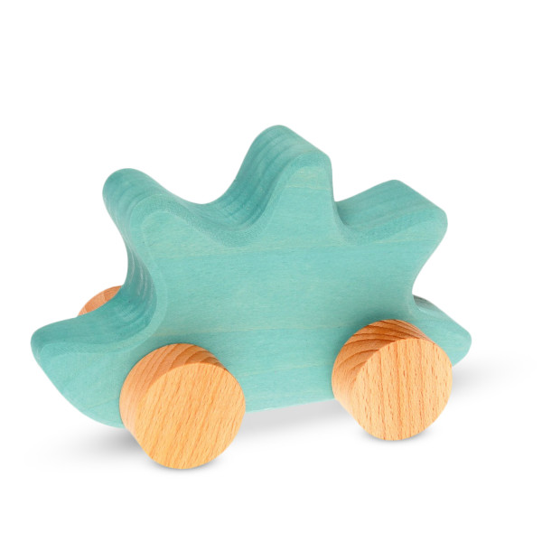 Grimm's Baby's First Moving Animal, Wooden Push Toy, Hedgehog