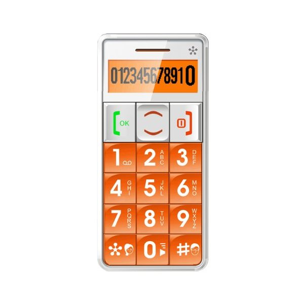 JUST5 J509 Unlocked Cell Phone, Amplified Sound, Personal Emergency Response System (Orange)