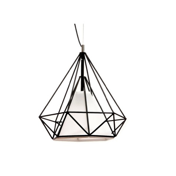 "Cheer Lighting Modern Himmeli Stylish Pendant Light Black Finish With Acrylic Shade Cover Dia19.6""*H19.6"""