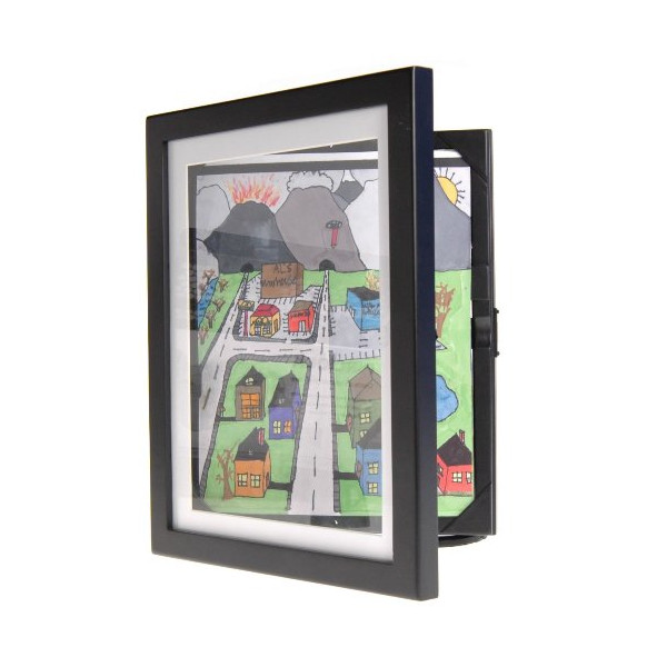 A4 Da Vinci Art Wooden Cabinet Photo Picture Frames (Black)