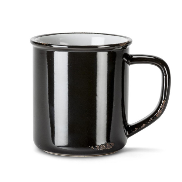 Abbott Collection Enamel Look Mug, Black