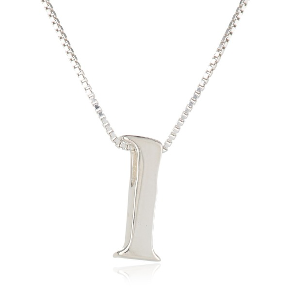 "Sterling Silver Slide Initial ""K"" Pendant Necklace, 18"""