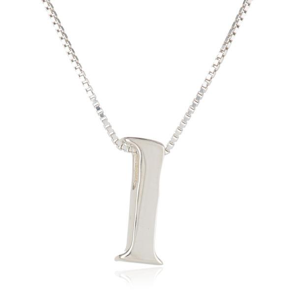 "Sterling Silver Slide Initial ""K"" Pendant Necklace, 18"""