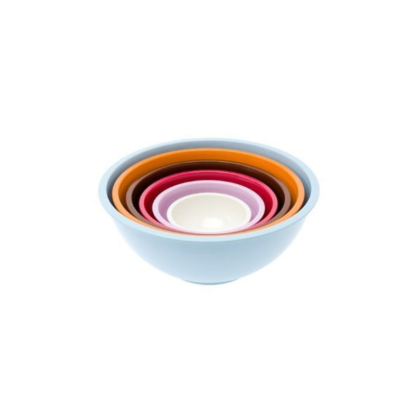 Present Time Retro Melamine Nesting Bowls, Set of 6