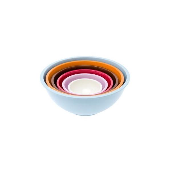Present Time Retro Melamine Nesting Bowls, Set of 6