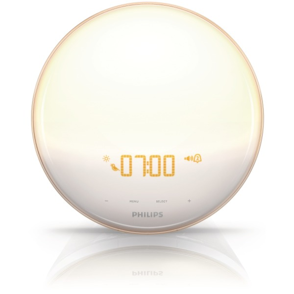 Philips Wake-Up Light With Colored Sunrise Simulation, White