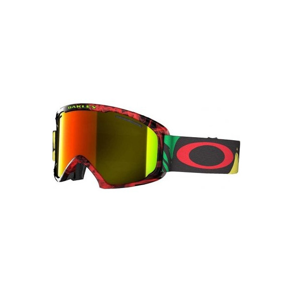 Oakley O2 XL Ski Goggles, Burned Out Rasta/Fire Irid