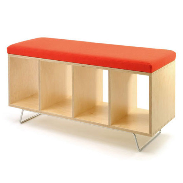 Offi Bench Box with Legs - Alcazar Wool Upholstery