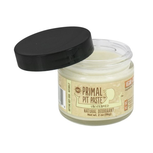 Primal Pit Paste Natural Deodorant Unscented 2 Ounces