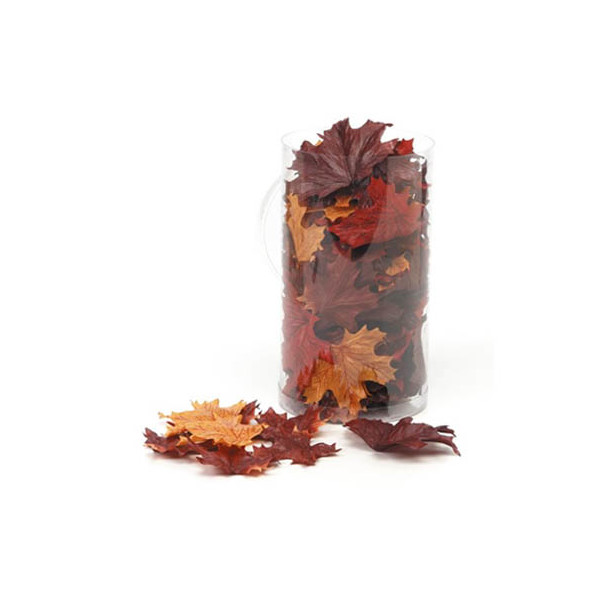 100 Mixed Fall Colors Silk Maple Leaves