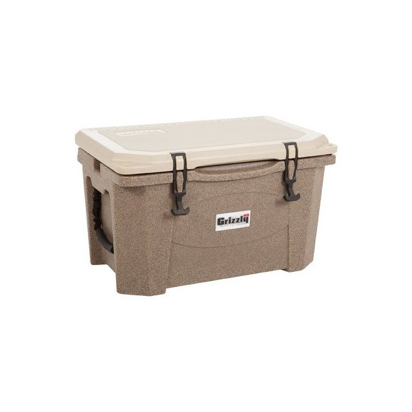 Grizzly Coolers Cooler, Sandstone/Tan, 40-Quart