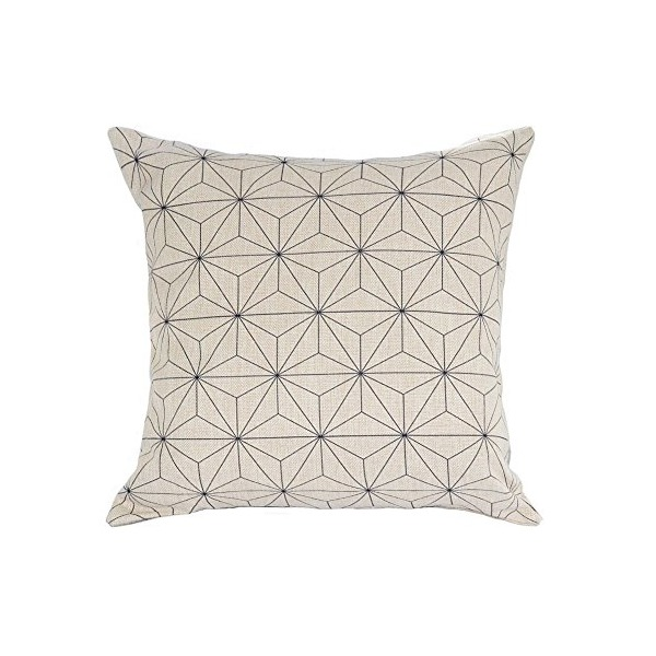Decorative Scandinavian Modern Geometric Design Watercolor Throw Pillow Cover...