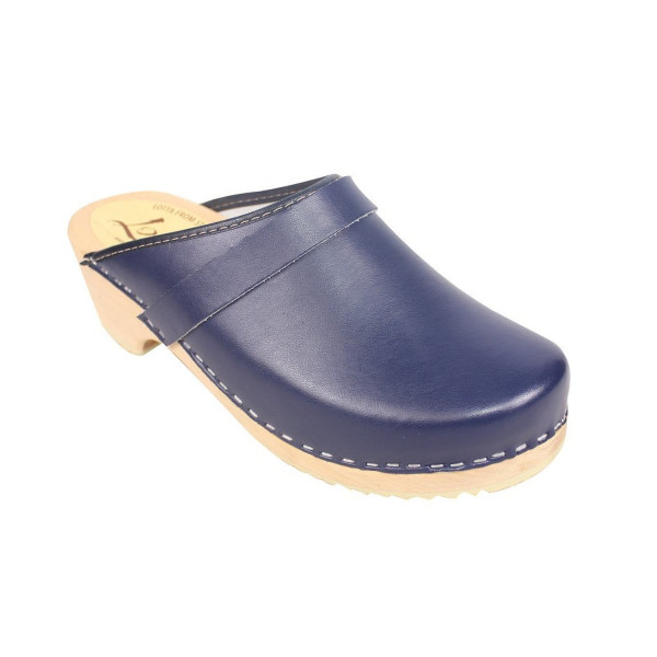 Lotta From Stockholm Torpatoffeln Swedish Clogs : Classic Clog in Blue Leather US 9 / EUR 40