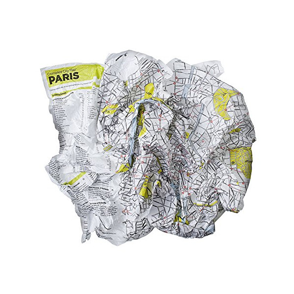 Crumpled City Map-Paris