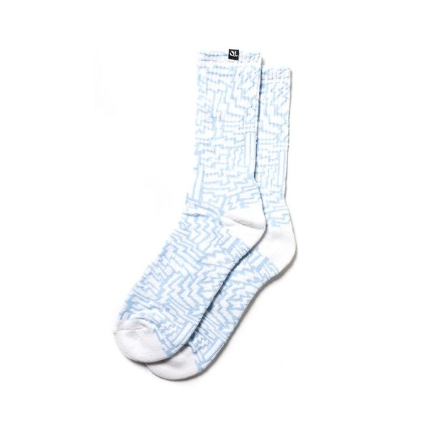 Quiet Life: Bolts Sock (3 Pack) - White