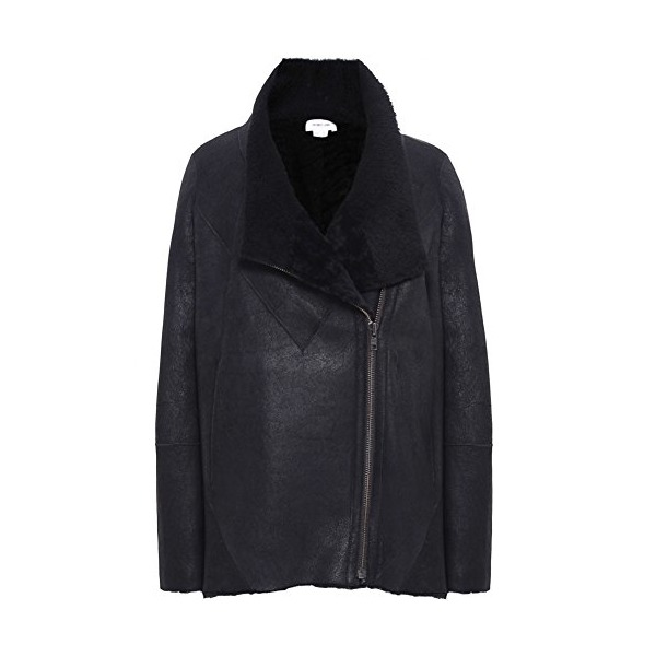 Helmut Lang Shearling Coat S BLACK