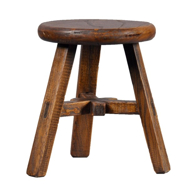 Antique Revival Wooden Kids Seat, Round