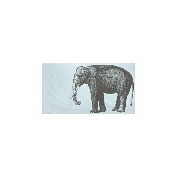 Elephant Cotton Voile Scarf in Sky