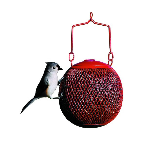 No/No Red Seed Ball Wild Bird Feeder
