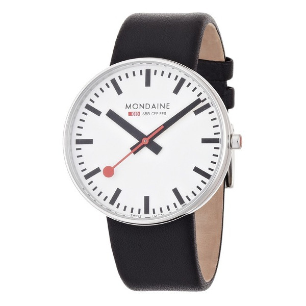 Mondaine Men's Giant Size Leather Band Watch