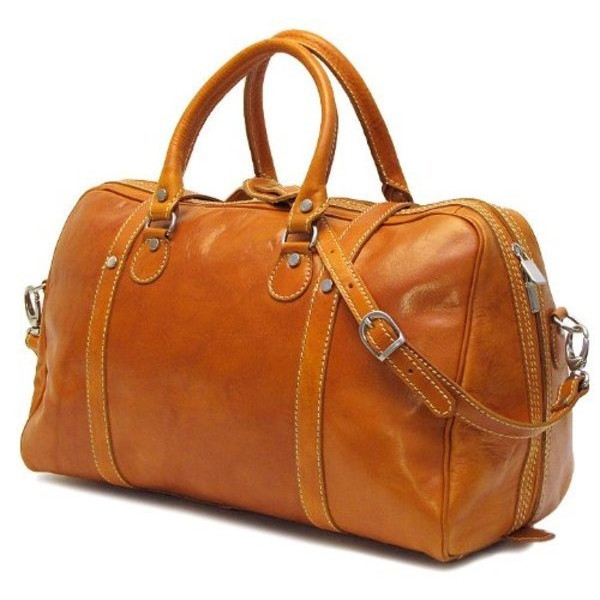 Floto Luggage Milano Duffle Bag, 100% Italian Leather