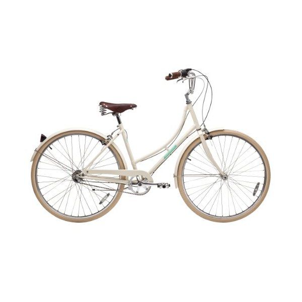 Papillionaire Sommer 3 Speed Vintage City Bike,Cream, 19-Inch/One Size