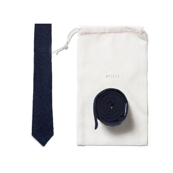 Apolis Indigo Wool Tie, Indigo