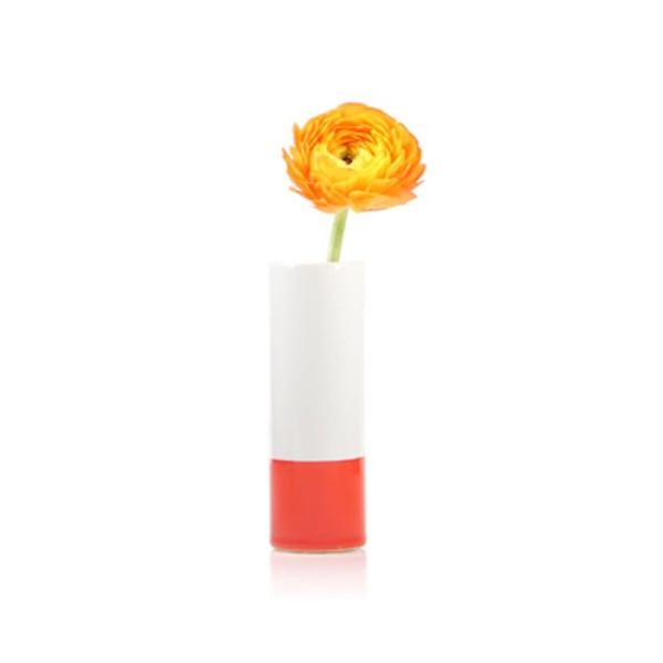 Chive - Crayon, Ceramic Flower Vase, in Orange