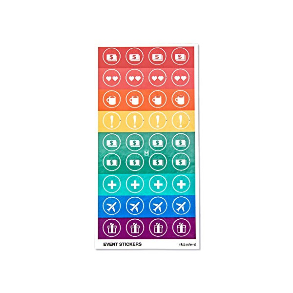 Colorful Event Stickers - 360 Calendar & Planner Stickers