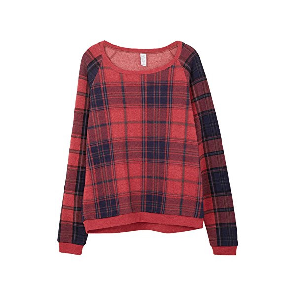 Alternative Women's Dash Pullover, Eco True Redwood Plaid, X-Small